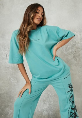 Missguided Blue Oversized T Shirt