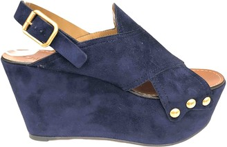 Chloé Blue Suede Mules & Clogs