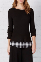 Bailey 44 Layered Plaid Top