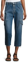 Vince Drop Slouch Cargo Jeans, Medium Indigo Wash