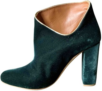 Malone Souliers Green Velvet Boots