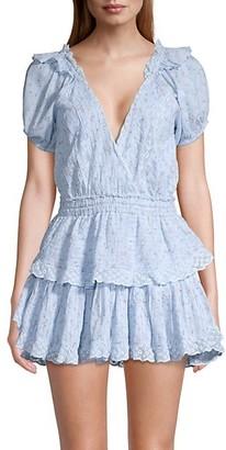 LoveShackFancy Carlo Tiered Floral Dress