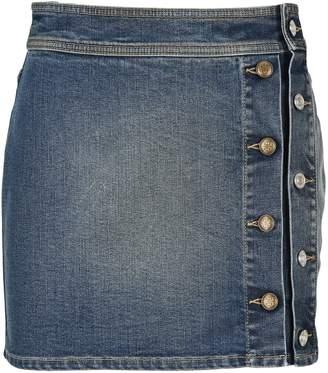Givenchy Buttons Mini Denim Skirt