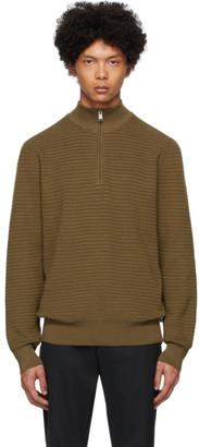 BOSS Brown Pro Half-Zip Sweater