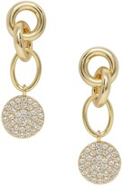 Ettika Crystal Disc Drop Earrings