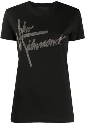 John Richmond studded logo cotton T-shirt