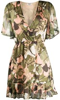 Liu Jo V-neck floral camouflage print dress