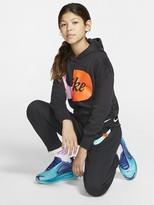 Nike Sportswear Air Older Boys Overhead Hoodie - Black/White