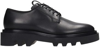 Givenchy Combat Derby Lace Up Shoes In Black Leather