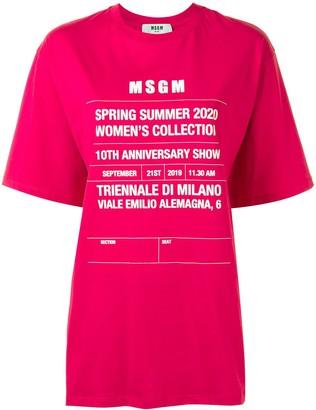 MSGM runway invite-print oversized T-shirt