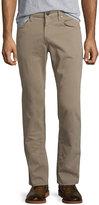 J Brand Kane Straight-Leg Twill Jeans, Grainseed