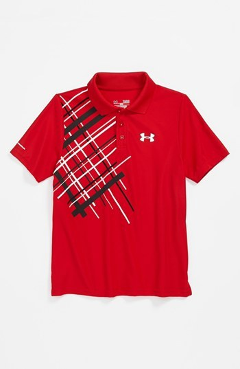 Under Armour 'Forged' Polo (Big Boys) Red Small