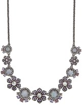 "Marchesa Floral Statement Necklace, 16"""