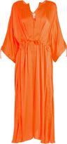 Maison Rabih Kayrouz Tie-waist charmeuse dress