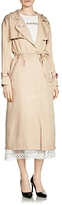 Maje Glorie Embroidered Trench Coat