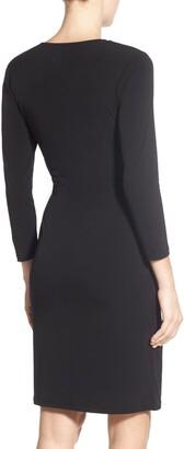 Anne Klein Faux Wrap Jersey Dress