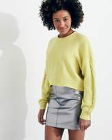 Hollister Cable Crop Crewneck Sweater