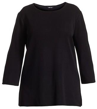 Misook, Plus Size Three-Quarter Sleeve Tunic