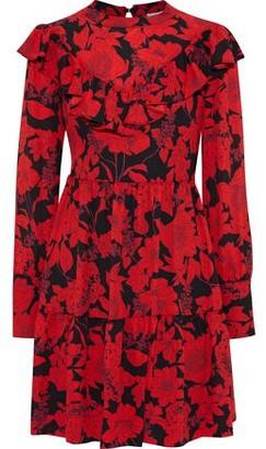 Rebecca Minkoff Margaret Floral-print Crepe De Chine Mini Dress