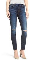 7 For All Mankind Ripped Ankle Skinny Jeans (Dark Canterbury)
