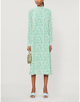 Ganni Floral-print georgette midi dress