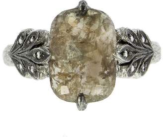 Cathy Waterman Diamond Oak Leafside Ring - Platinum