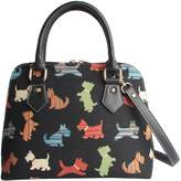 Signare Womens Fashion Canvas Tapestry Convertible Shoulder Handbag (Scottie)