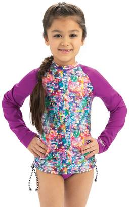 Dolfin Uglies Girls Shimmer Print Long Sleeve Rash Guard
