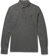 Ermenegildo Zegna Slim-Fit Mélange Cotton Polo Shirt