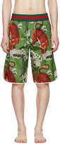 Gucci Green Bengal Swim Shorts