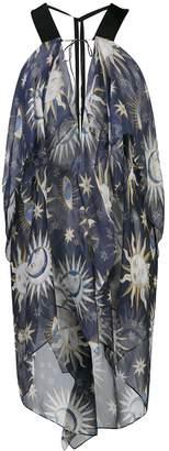 Maison Rabih Kayrouz Asymmetric Printed Tunic Top