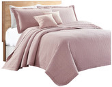 Sherry Kline Out of the Box 3-piece Embroidered Quilt Set, Pink, King
