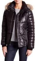 Andrew Marc Aubrey Genuine Coyote Fur Trim Puffer Coat