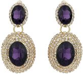 Mikey Oval Stone Marquise Drop Clip On Earring