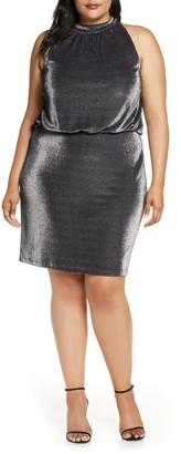 Vince Camuto Sleeveless Metallic Blouson Dress