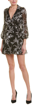Alice + Olivia Gaston Silk-Blend Wrap Dress