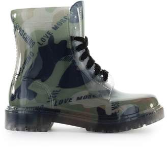 Love Moschino Camouflage Rubber Ankle Boot