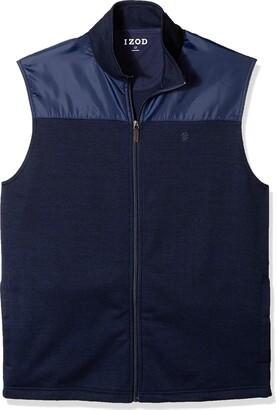 Izod Men's Big Essential Full Zip Sweater Vest