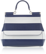 Dolce & Gabbana Dauphine Striped Shoulder Bag