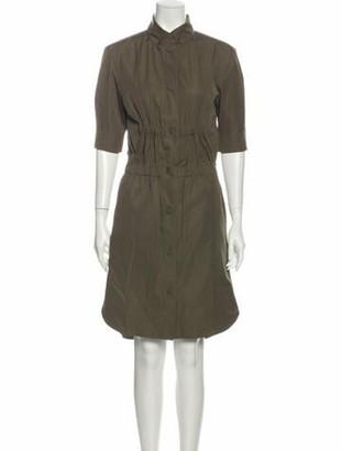 Louis Vuitton Knee-Length Dress Green