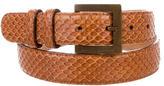 Dolce & Gabbana Snakeskin Waist Belt
