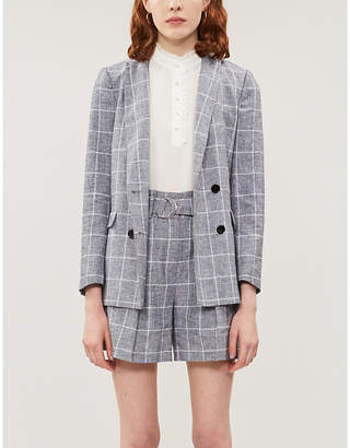 Claudie Pierlot Babouchka frill-trim silk-crepe blouse