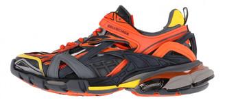 Balenciaga Track Orange Leather Trainers
