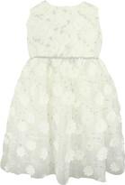 Popatu Floral & Metallic Embroidery Tulle Dress