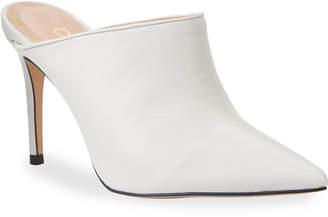 Erin Sleek Leather Pointed-Toe Mules