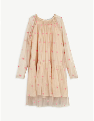 Stella McCartney Embroidered heart tulle dress 4-16 years
