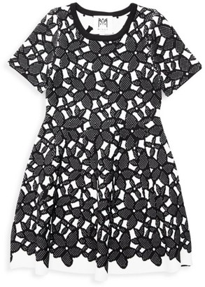 Milly Little Girl's & Girl's Floral Mesh Jacquard Dress