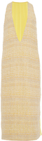 Prabal Gurung Hand Woven Ribbon Tweed V-Neck Dress