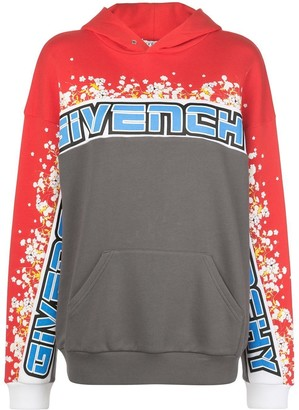 Givenchy Floral Color-blocked Logo Hoodie