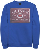 Licensed Character Men's Jaws Quint's Shark Charter Wooden Sign Fleece